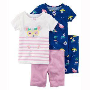 Carter's 4 piece summer mouse pajama set